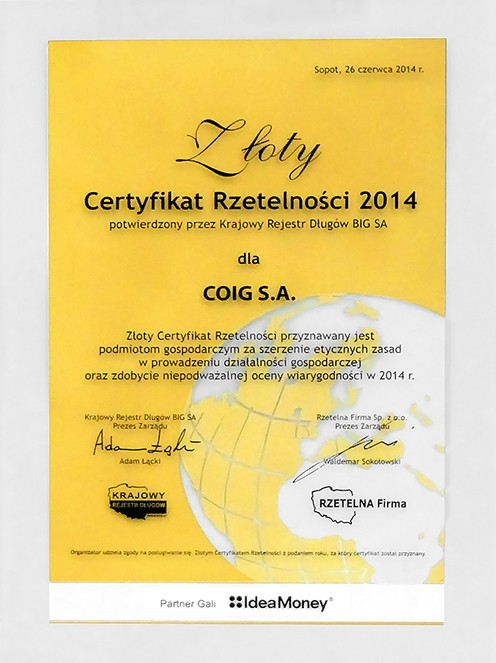 COIG_certyfikat_rzetelnosci_2014